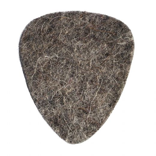 Felt Tones Grey Wool Felt 1 Guitar Pick
